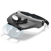 Бинокулярные лупы очки MG81001-A (1,2x-7x) c Led подсветкой