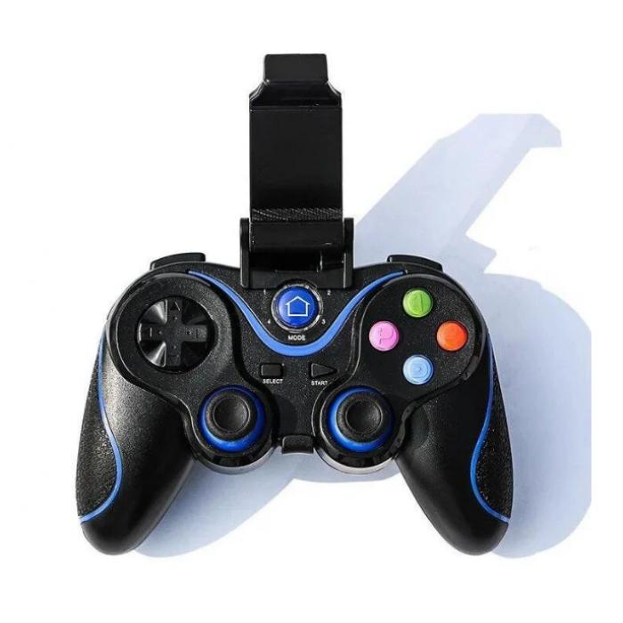 Беспроводной Bluetooth джойстик Gen Game V8 Чёрный с синим