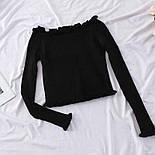 Жіноча кофтинка зі спущеними / відкритими плечима (червоний, білий, чорний, зелений, бежевий), фото 2