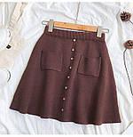 Жіноча стильна спідниця трикотажна з кишенями (в кольорах), фото 3