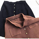 Жіноча стильна спідниця трикотажна з кишенями (в кольорах), фото 2