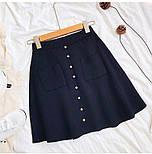 Жіноча стильна спідниця трикотажна з кишенями (в кольорах), фото 7