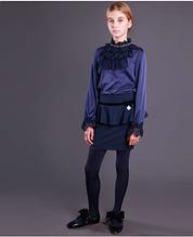 Школьная юбка для девочки Школьная форма для девочек MONE Украина 1414-2 Синий