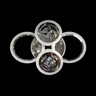 Светодиодная LED люстра СветМира 65 Вт с подсветкой и регулировкой яркости LS-7122/4 CH