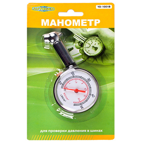 Манометр пластик стрелочный YD-1001 07511 (YD-1001)