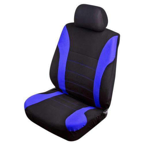 Авточехлы универсальные на передние сиденья VSC-38260P-6 BK/BL Polyester (6шт) черно-синие
