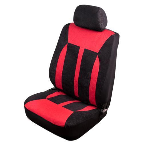 Авточехлы универсальные на передние сиденья VSC-38261V-6 BK/RD Velur (6шт) черно-красные (VSC-38261V-6 BK/RD)