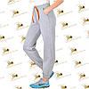 Сірі брюки утеплені на манжеті тренитка на флісі, фото 2
