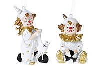 Новогоднее украшение подвеска Клоун, 9см, 2 вида(6 шт в упаковке )