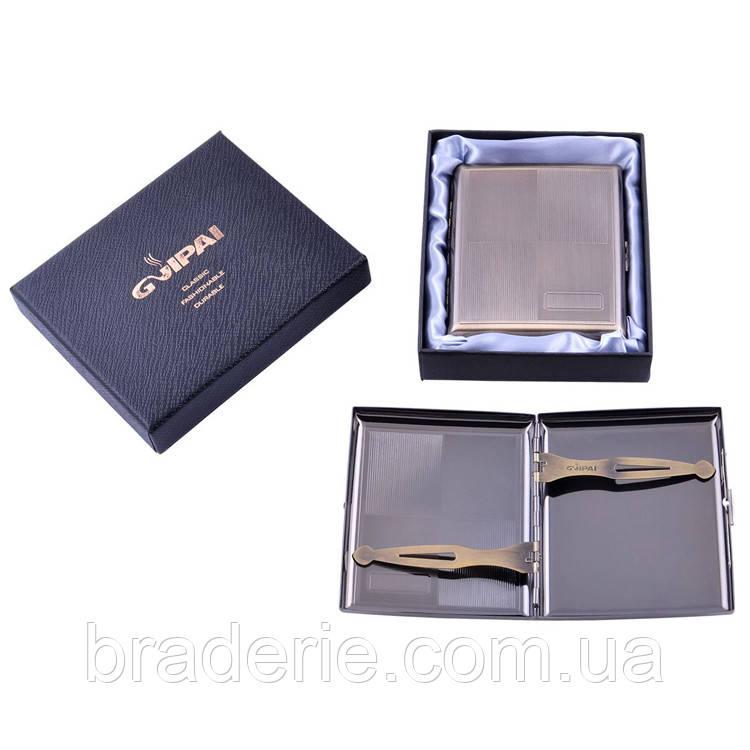 Портсигар классический в подарочной коробке 4982-1