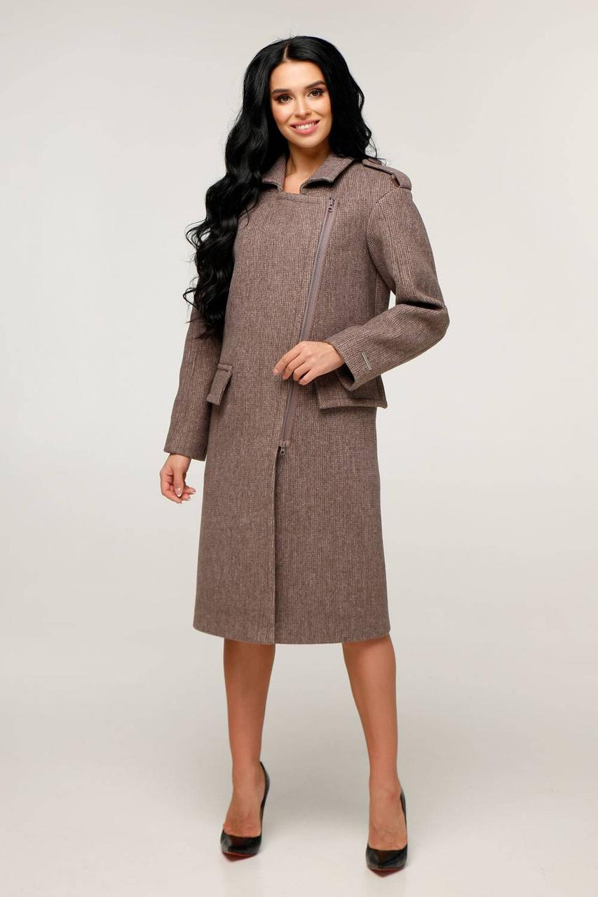 Пальто демісезонне пряме з шерсті
