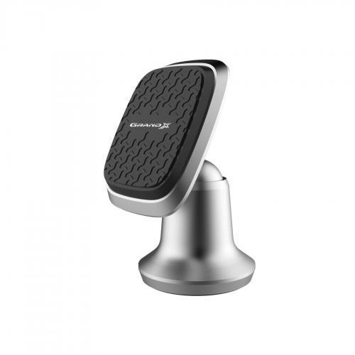 Держатель мобильного телефона Grand-X (магнитный на панель) МТ-09 Silver (МТ-09 Silver)