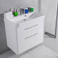 Шкафчик с умывальником FANCY MARBLE Devon ШН-800 + Carla 800C (Белый), фото 1