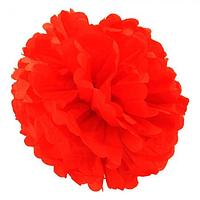 Декор бумажные Помпоны 40см красный 0007, фото 1