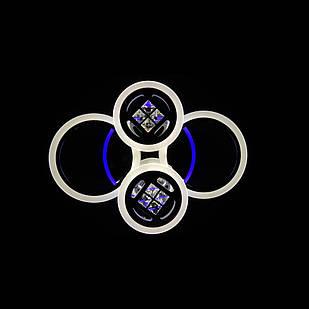 Светодиодная LED люстра СветМира 65 Вт с подсветкой и регулировкой яркости LS-7122/4