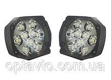 Комплект LED фар для мотоциклов, скутеров. Светодиодные лэд фары на 9 диодов.15w. Пр-во Корея