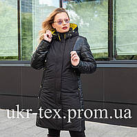 Демисезонная женская куртка большого размера 50,58,60 черный
