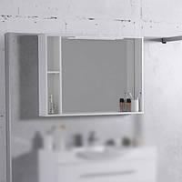 Шкафчик с зеркалом FANCY MARBLE ШЗ-980 (Белый), фото 1