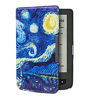 Чехол для PocketBook 614 Basic 2/3 (Plus) с рисунком Звёздная Ночь – обложка электронной книги Покетбук, фото 1