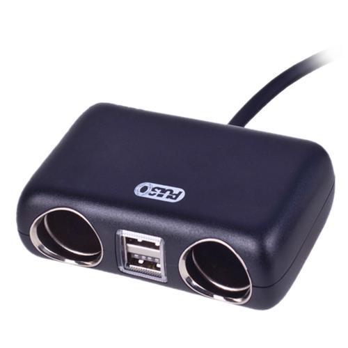 Разветвитель прикуривателя PULSO 2 выхода + 2USB 2400mA 12/24V SC-2004L провод (SC-2004L)