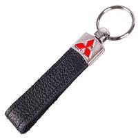 Брелок для ключей авто MITSUBISH кожаный длинный