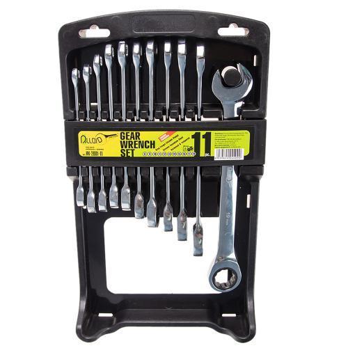 Alloid Набор ключей комб трещот 11 предм, 8,9,10,11,12,13,14,15,16,17,19мм(НК-2081-11) (НК-2081-