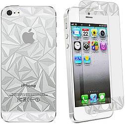 Защитная пленка 3D Diamond для iPhone 5G/5S (передняя и задняя)