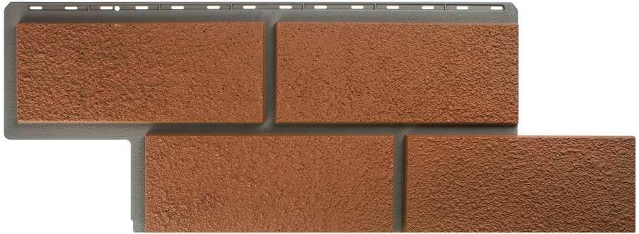 Неаполитанский Камень Терракотовый. Фасадные панели. Цокольный сайдинг.