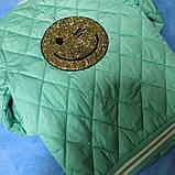 Куртка модная демисезонная для девочки с карманами и со смайликом., фото 2