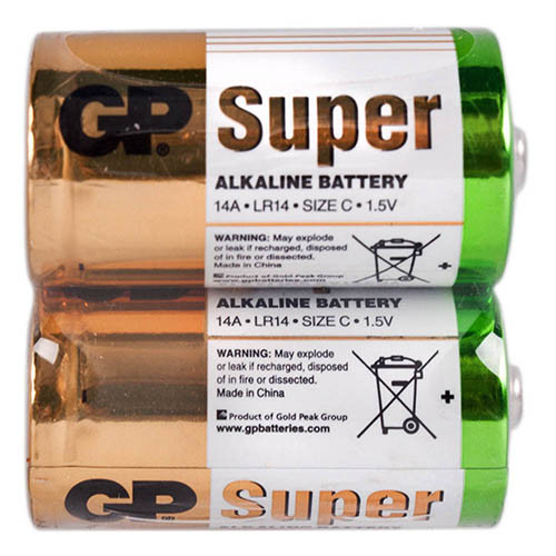 Батарейка GP SUPER ALKALINE 1.5V 14A-S2 щелочная, LR14, С (4891199006463)