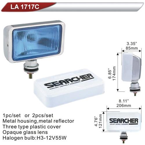 Фара дополнительная   DLAA 1717C-BL хром/H3-12V-55W/206*121mm/крышка (LA 1717С-BL)