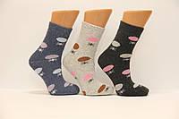Женские носки шерстяные с махрой SL   горохи