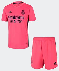 Футбольна форма Реал Мадрид (Real Madrid), виїзд/рожевий сезон 20/21