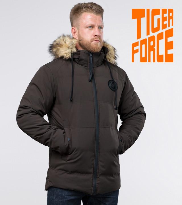 Tiger Force 55825 | Мужская зимняя куртка кофе 46 (S) 48 (M) 50 (L) 54 (XXL)