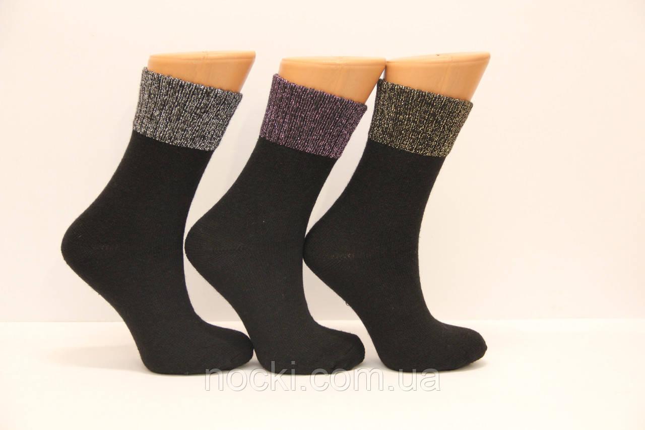 Женские носки шерстяные с люрексовой резинкой НЛ