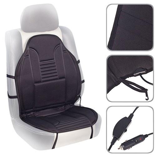 Накидка на сиденье авто с подогревом (100x50см) и переключателем (ZL012 BK)