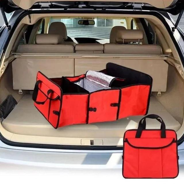 Органайзер холодильник у багажник автомобіля Trunk organizer cooler Червоний