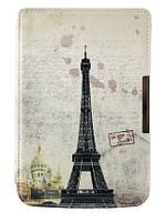 Чехол PocketBook 614 Basic 2/3 (Plus) - рисунок Париж – обложка для электронной книги Покетбук