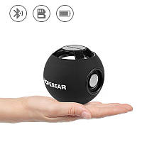 Портативна Bluetooth колонка Hopestar H46 акустична система куля з ФМ MP3 USB Чорний, фото 1