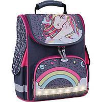 Рюкзак школьный каркасный с фонариками Bagland Успех 12 л. серый 511 (00551703), фото 1