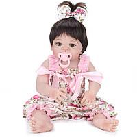Силиконовая Коллекционная Кукла Реборн Alysi Девочка 57см. (QWER)