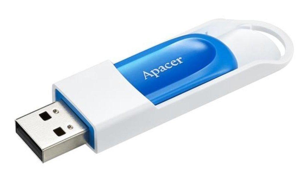 Apacer AH23A 32GB USB White/Blue (AP32GAH23AW-1)