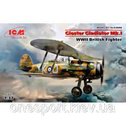 ICM32040 Gloster Gladiator Mk.I, Британський винищувач 2СВ + сертификат на 50 грн в подарок (код 200-627066)