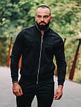 Asos мужской коричневый короткий бомбер. Мужская коричневая ветровка.Мужская демисезонная коричневая куртка, фото 4
