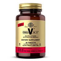 Мультивитаминная Формула, Formula VM-75, Solgar, 30 таблеток