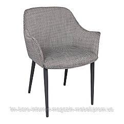 Кресло MILTON (51*61*78 cm текстиль) рогожка черно-белый, Nicolas