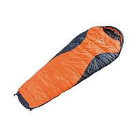 Спальний мішок Deuter Dream Lite 400, sun orange-midnight лівий
