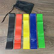 Резинки для фитнеса тренировок 5 штук эластичная лента резина ленточный эспандер ног занятий спортом набор
