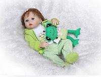 Силиконовая Коллекционная Кукла Реборн Alysi Девочка Мариша 57cм. (UIOP)