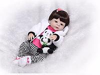 Силиконовая Коллекционная Кукла Реборн Alysi Девочка 57cм. (DFGH)
